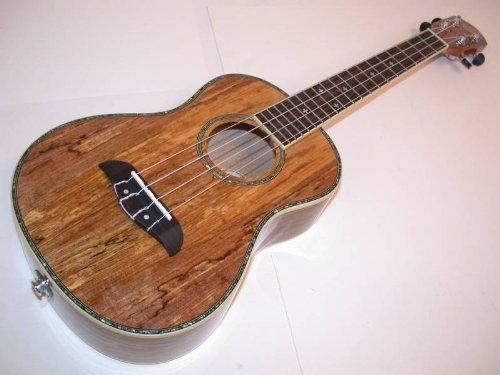 Spalted Maple Natural - Oscar Schmidt Spalted Mango TENOR Acoustic/Electric Ukulele, OU7TE