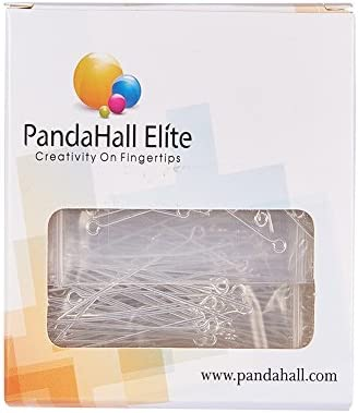 PH PandaHall About 600pcs in a Box of 6 Sizes Brass Eyepins Open Eye Pins Sets Lots for Beads Jewelry Making in Length 24-60mm