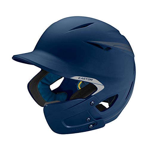 (EASTON PRO X Batting Helmet with JAW GUARD | Senior | Right Handed Batter | Matte Navy | Baseball Softball | 2019 | Multi-Density Impact Absorption Foam | High Impact Resistant ABS Shell | BioDRI )