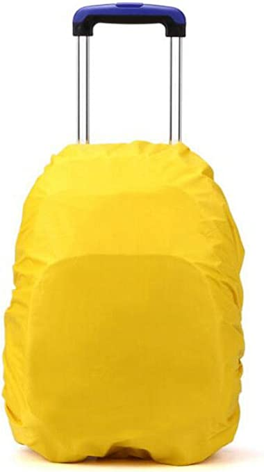 Gespout Impermeabile Protezione Tronco Antipioggia per Zaino Pioggia Sicura Copertura Trolley Borse di Pioggia Protezione Antipolvere Copertura Nylon Orange
