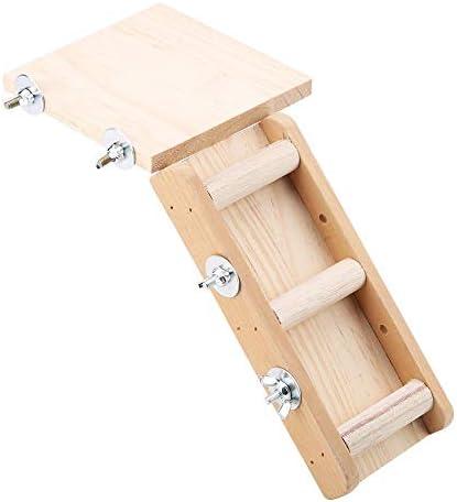 ペット クライミング おもちゃセット 木製 プラットフォーム クライミング キット 実用的な はしご スライドボードケージ アクセサリー 梯子と残りプラット フォームセット