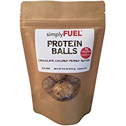 simplyFUEL Whole Food Protein Balls (Protein + Probiotic) 9.6 oz Chocolate Coconut Peanut Butter