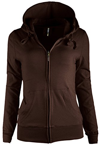 TOP LEGGING TL Women's Knit Stretch Zipper Solid Casual Zip-Up Hoodie Jackets In Colors 47 (Medium, - Browns Plains Stores Sports