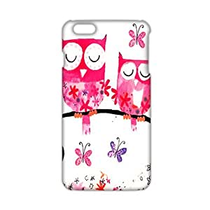 Evil-Store Cartoon lovely owl 3D Phone Case for iPhone 6 plus