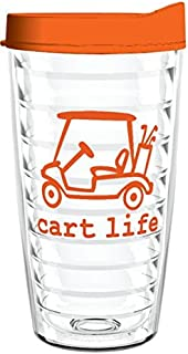 product image for Smile Drinkware USA-CART LIFE 16oz Tritan Insulated Tumbler With Lid and Straw