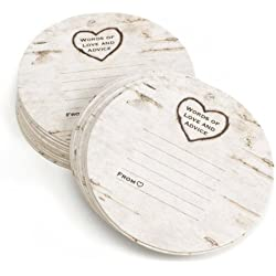 Hortense B. Hewitt Wood Grain Design Words of Advice Coasters, Set of 25