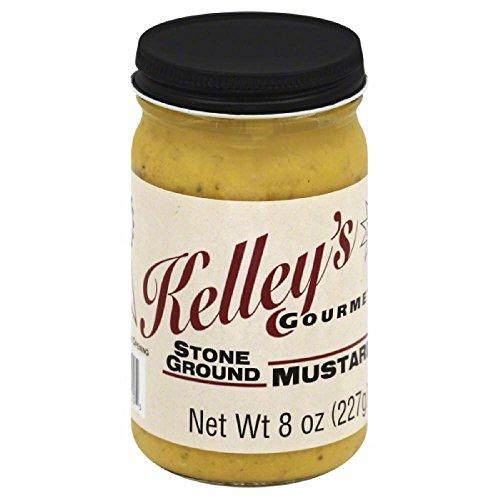 Kelley's Gourmet Stone Ground Mustard,8 Ounce