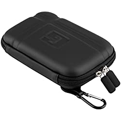 """5"""" Inch Hard Carrying Case Travel GPS Protective Bag Cover Pouch Shell Zipper Case For 5"""" 5.2"""" TomTom Garmin Nuvi Magellan RoadMate Tomtom GPS Devices Black"""