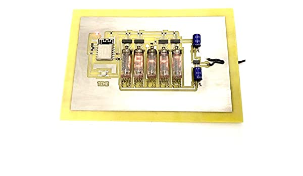 Numitron IV-9 WI-FI - Reloj cronómetro para Mesa, Pared Hecho a ...