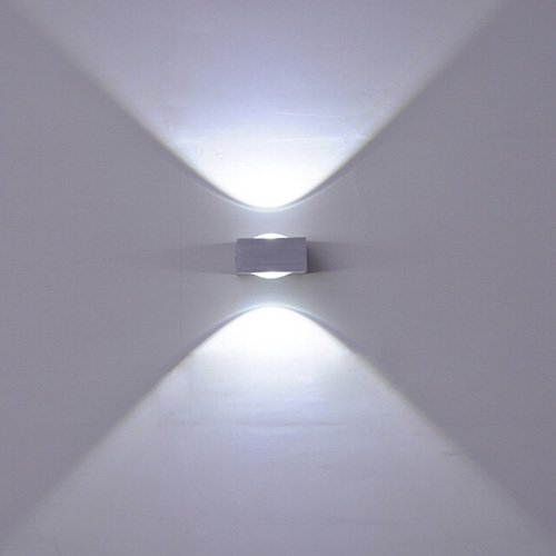 luminturs 6w dimmable led wall sconce updown light fixture