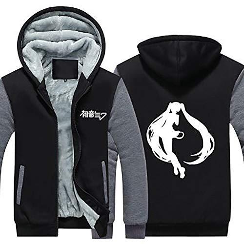 Xcoser Hatsune Miku Hoodie Plus Velvet Thick Sweatshirt