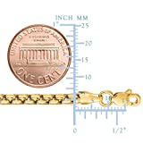 14k REAL Yellow or White SOLID Gold 3.4mm Shiny