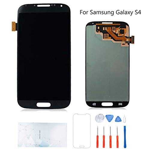 Kosuroum Screen Replacement for Samsung Galaxy S4 i9500 i9505 i337 M919 LCD Glass Display Touch Digitizer Assembly Tools (Navy)