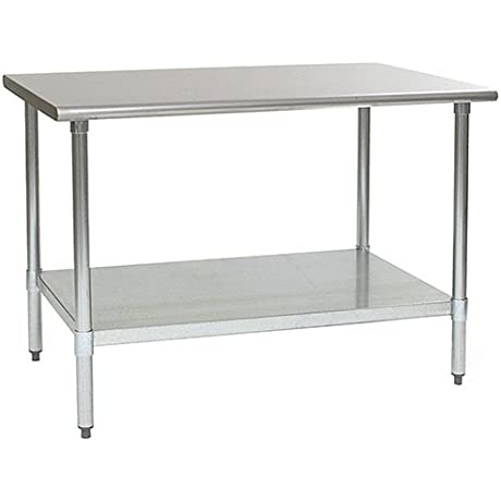 Eagle T3660SE Stainless Steel Work Table With Stainless Steel Shelf Base 36 X 60 X 30