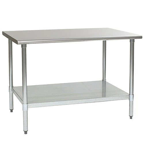Eagle T3660SEB Stainless Steel Work Table with Stainless Steel Shelf Base, 36