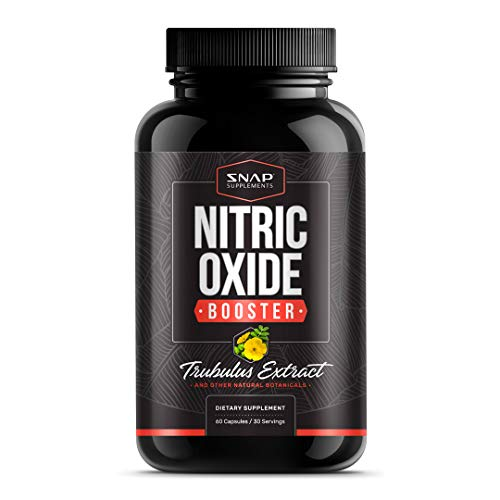 Nitric Oxide Booster with Tribulus Extract, L Arginine, L-Citrulline, and Panax Ginseng - Powerful NO2 Booster and Muscle Builder for Strength, Blood Flow and Endurance