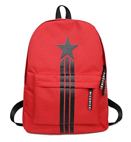 Seaoeey Schoolbag Computer Bag Backpack Waterproof Satchel Rucksack Red (Laurex Backpack Laptop)