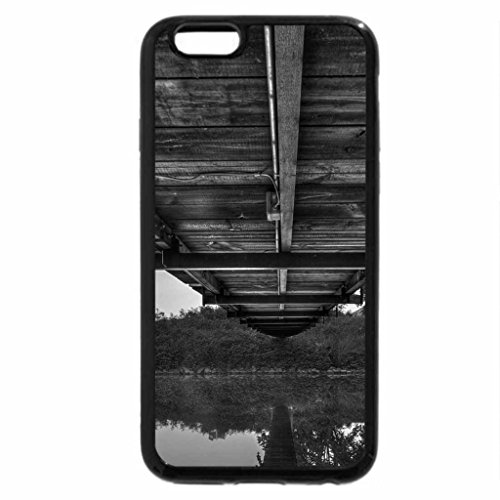 iPhone 6S Plus Case, iPhone 6 Plus Case (Black & White) - between a bridge and a river hdr