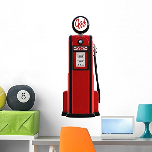 Wallmonkeys FOT-4458812-36 WM288106 1950s Gas Pump Peel and Stick Wall Decals (36 in H x 16 in W), Large ()