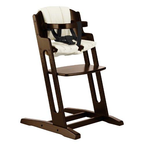 BabyDan DanChair Wooden High Chair Walnut With Beige Cushion