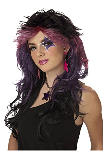 Outrageous Baby Costumes (Outrageous Halloween Costume Wig (Black/Pink/Purple))