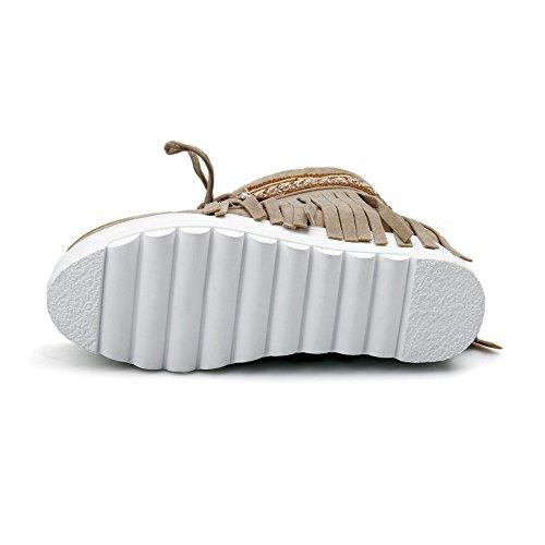 Cerrados Zapatos Para Beige AdeeSu Mujer gAYxaUan