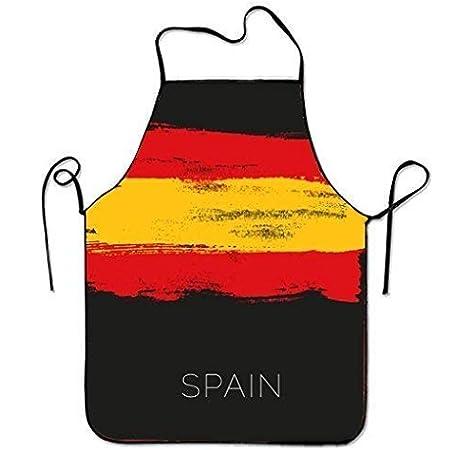 Jhonangel Delantal de Chef Personalizado Pinturas Coloridas en España para Mujeres Hombres Camarera Hornear Artesanía Jardinería Cocina Girlling Barbero Pinafore: Amazon.es: Hogar