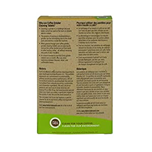 Urnex Full Circle Coffee Grinder Cleaning Tablets - 3 Single Use Packets - Coffee Grinder Cleaner Removes Coffee Residue and Oils from Urnex