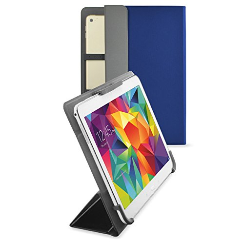 9 Inch, Tablet Cover 10.1 Inch,  Universal 9 10 Inch Tablet Folio Leather Stand Smart Case Covers for Andriod Windows Tablet ASUS, Acer,RCA,Dell, HP, Nexus, Galaxy Tab, Blue ()