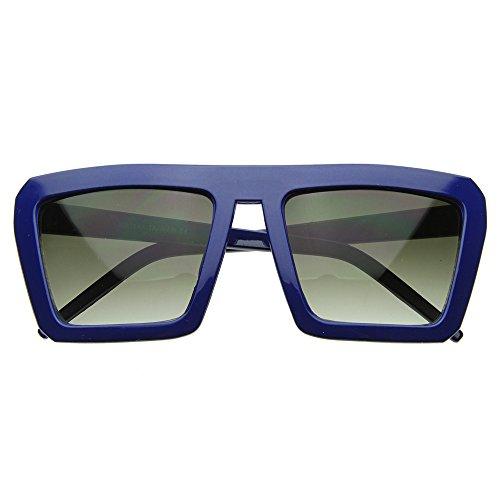 hombre sol de KISS® VENDIMIA Gafas Azul de mujer VIEJA plana Suave mod la rapero superior de la ESCUELA parte De T5qwdnwtf