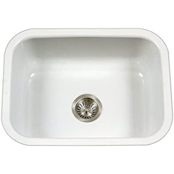 this item houzer pcs 2500 wh porcela series porcelain enamel steel undermount single bowl kitchen sink white. Interior Design Ideas. Home Design Ideas