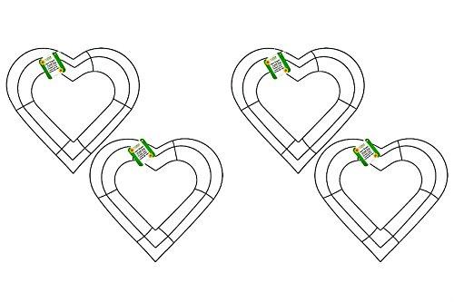 Heart Shaped Wreath Ring Valentine Craft 12