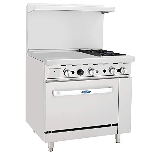 CookRite ATO-24G2B Natural Gas Range 2 Burner Hotplates with 24