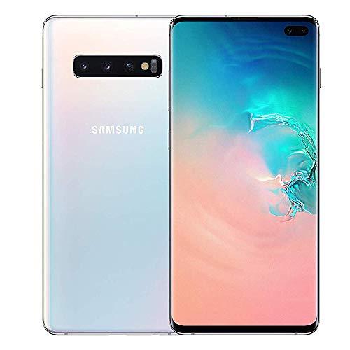 Samsung Galaxy S10+ Mobile Phone; Sim Free Smartphone – Prism White, (UK Version)