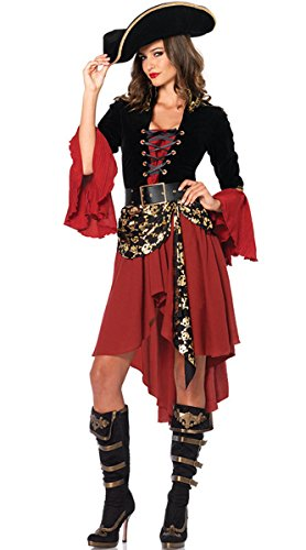 Halloween Pirate Roleplay Cosplay Costume Women's Sexy Swashbuckler Pirate Costume,Style A
