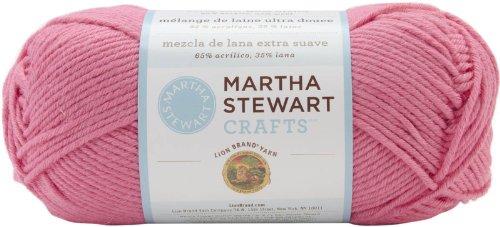 (Martha Stewart Extra Soft Wool Blend Yarn-flamingo 1 pcs sku#)