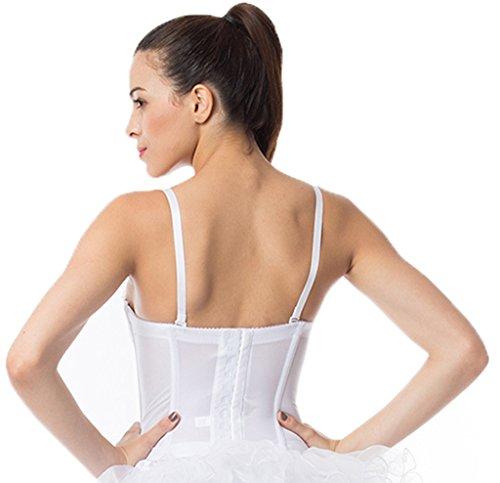 Alivila. Y Fashion de encaje de novia corsé 2269A (sin tanga) Blanco