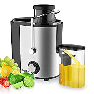 Juicer Machines Bagotte Fruit and Vegetable Juicer Compact Juicer Extractor Wide Mouth Centrifugal Juicer, Easy Clean…