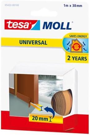 Tesa 05422-00101-00, Burlete De Espuma Para Umbral De Puertas, 1m x 38mm x 20mm