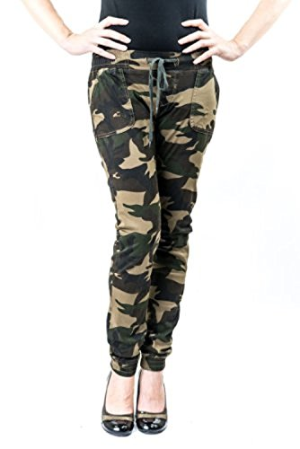 Exocet Womens Plus Size Camo Harem Jogger Pants (2x) (Jeans Print Army)