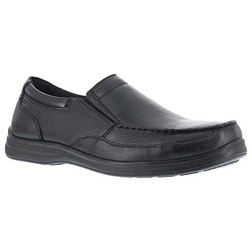Florsheim Work Women's FS28 Wily Steel Toe ESD Slip-On,Black,US 11 D
