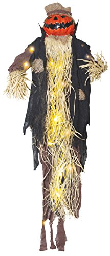 Pumpkin Scarecrow (Light-Up Hanging Pumpkin Man Scarecrow Figure - Hanging Halloween)