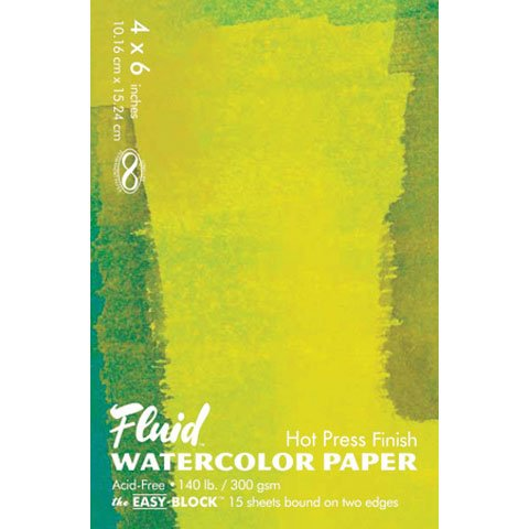 Fluid Watercolor Hot Press Block 8X8
