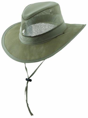 Dorfman Pacific Co. Men's Mesh Safari Hat, Khaki, (Dorfman Pacific Mesh Safari Hat)