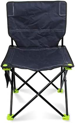 RFJJAL Outdoor Home Camping Self-driving Folding Chair Beach Fishing Leisure Portable Folding Chair Waterproof Oxford Cloth Steel Bracket Durable