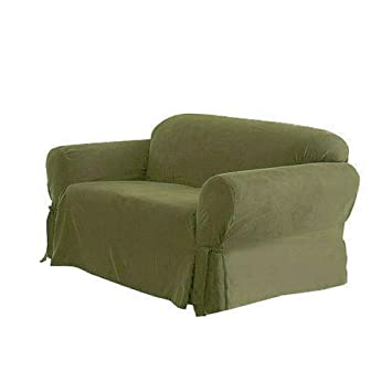 Fantastic Loveseat Cover Soft Micro Suede Color Slipcover With Elastic Band Under Seat Cushion Light Moss Andrewgaddart Wooden Chair Designs For Living Room Andrewgaddartcom