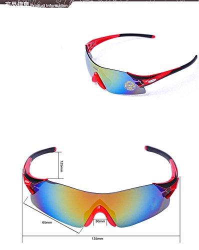 Rouge de plein CHshop Vélo de montagne lunettes équipé en soleil de air FUFAw6