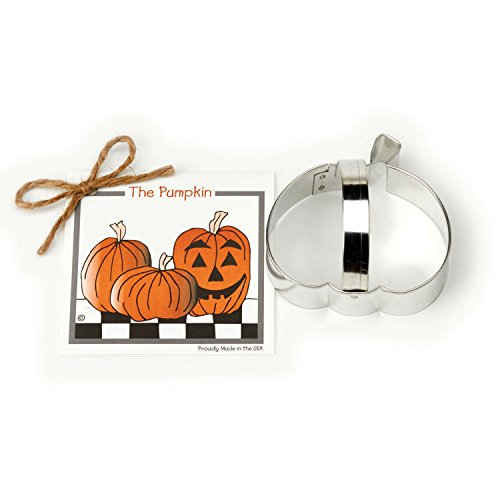Pumpkin Cookie and Fondant Cutter - Ann Clark - 3.6 Inches - US Tin Plated Steel (Halloween Decorated Cookies Ideas)