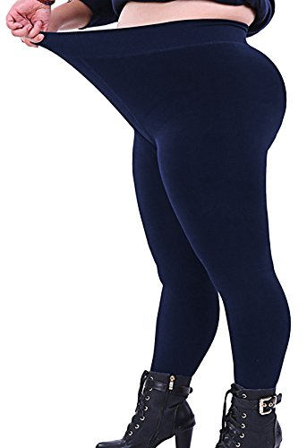 300fbb5f49d Seawhisper Plus Size Tights Leggings for Women Navy Blue Summer Thin Slim  XXL 20W XL 2X 3X 4X 14W 16W 18W 22W 26W 28W