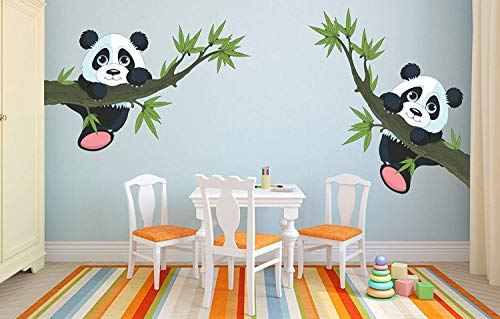Twin Panda Kids Room Wall Sticker